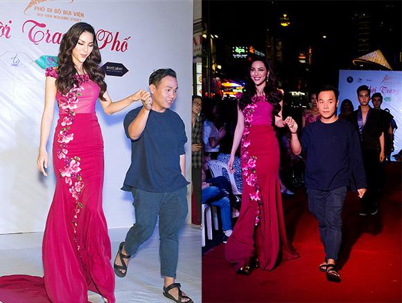 Siêu Mẫu Khả Trang diễn dạ hội cho NTK Việt Hùng