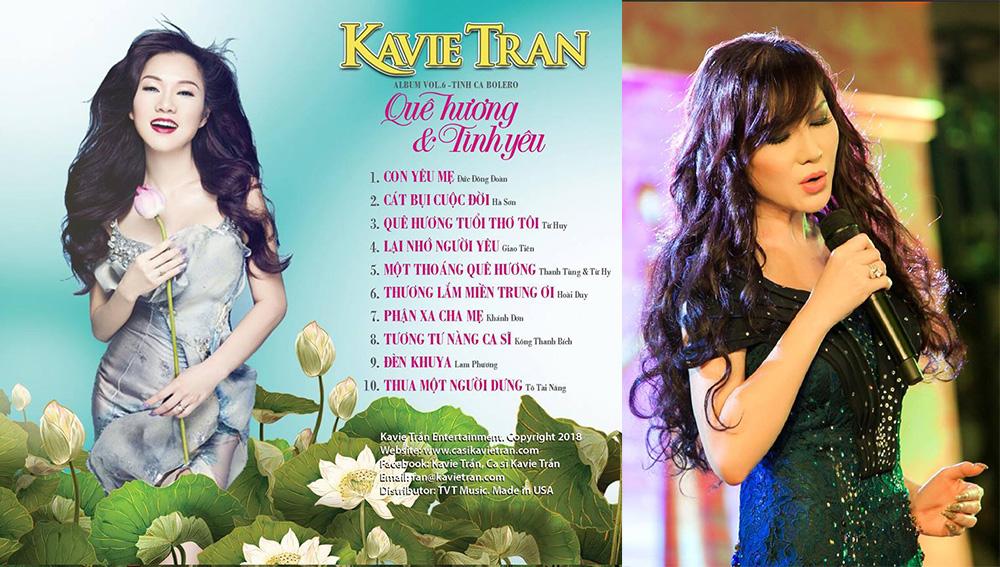 Vol 6 nhạc Bolero của ca sĩ hải ngoại Kavie Trần chính thức phát ra thị trường