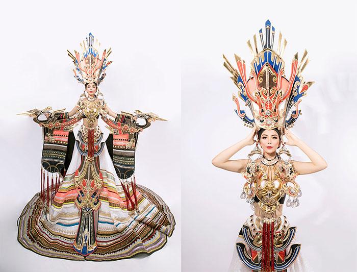 Oanh Lê  tiết lộ trang phục dân tộc tại cuộc thi Mrs International World 2019