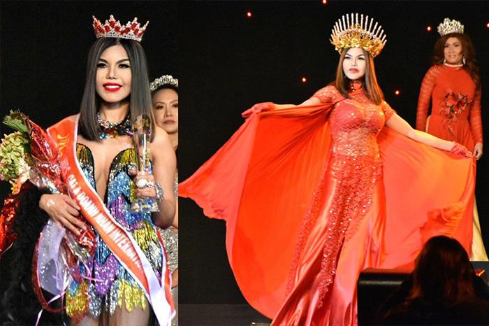 Hoa hậu Gia Hân như nữ hoàng lửa trên sân khấu vinh danh