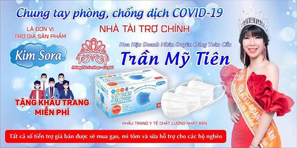 Hoa hậu doanh nhân duyên dáng toàn cầu Trần Mỹ Tiên chung tay chống dịch Covid 19