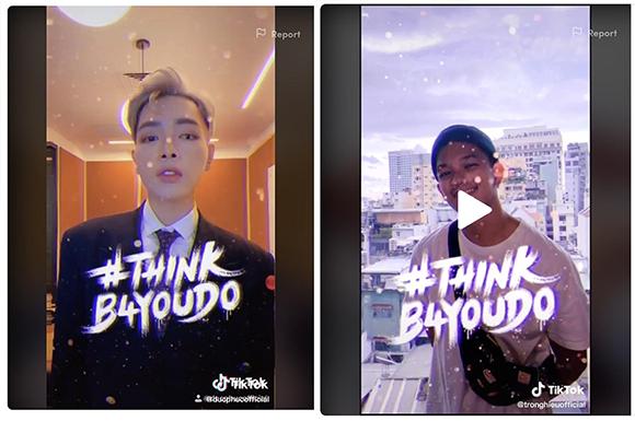 Hàng loạt sao Việt hưởng ứng chiến dịch #thinkb4youdo - Vì một môi trường mạng thân thiện và an toàn