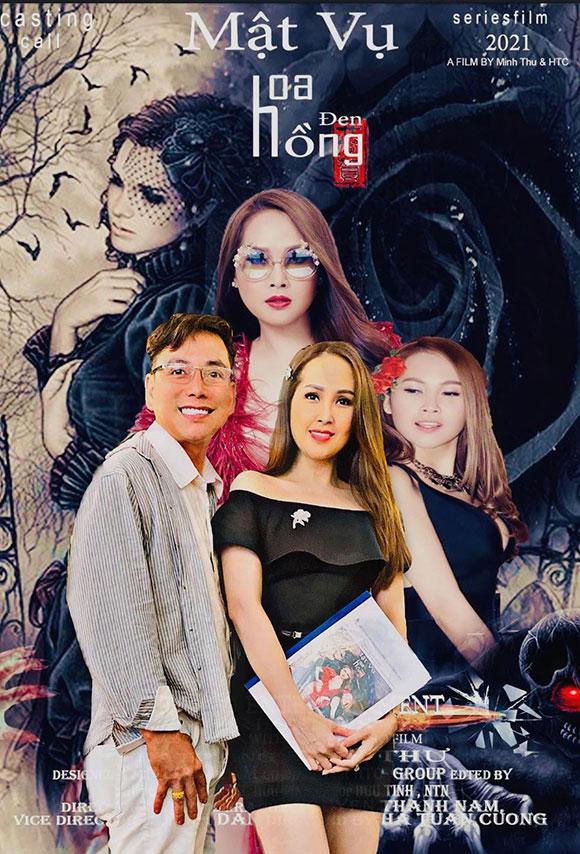 """Ca sĩ Lâm Trí Tú bất ngờ hội ngộ diễn viên Minh Thư trong """"Mật vụ hoa hồng đen"""""""